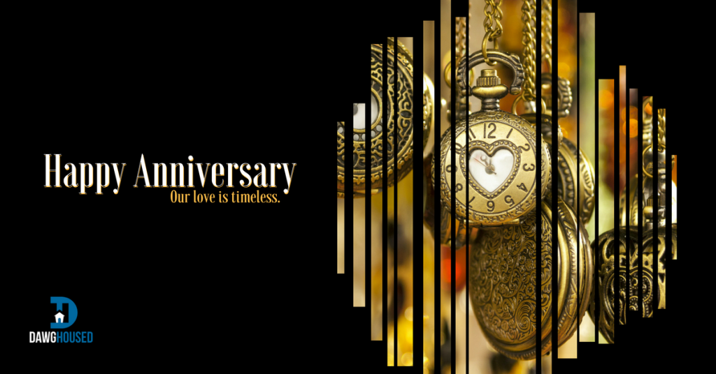 Greeting card anniversary - Our love is timeless